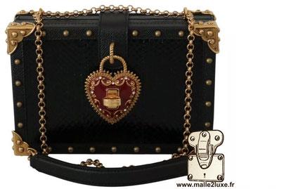 BOX BAG - DOLCE & GABBANA sac a main rigide mini malle