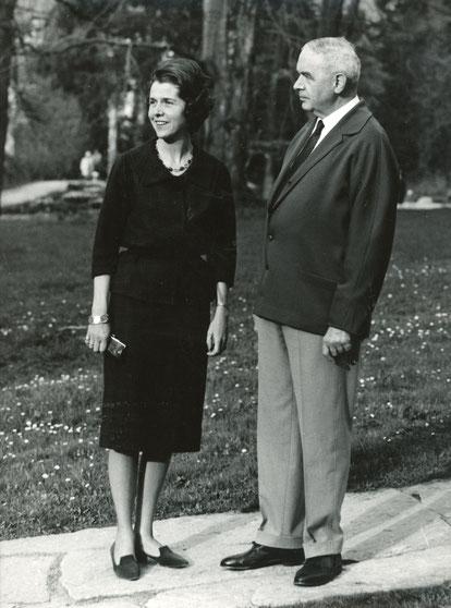 Brauereidirektor Arnold Holtmann mit Tochter