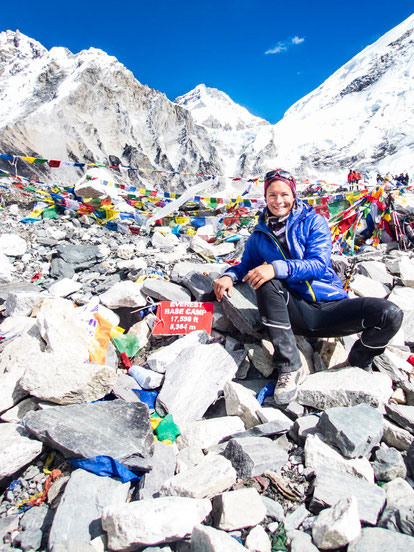 Am Everest-Basecamp auf 5.364m