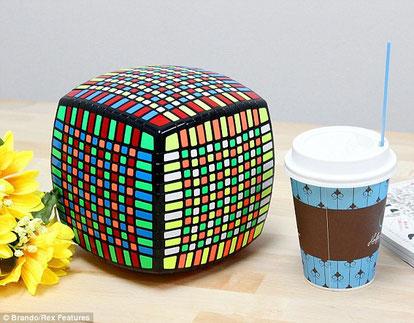 Comparación del tamaño del cubo con la de un vaso de té. Tomado de http://www.dailymail.co.uk/