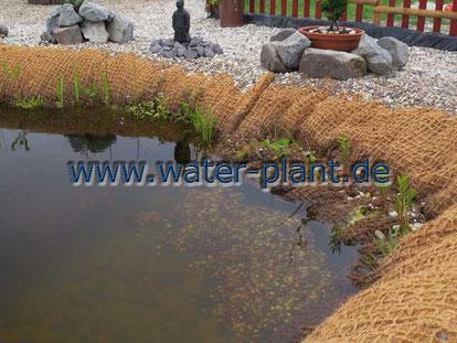 Pflanzmatten zur Ufergestaltung