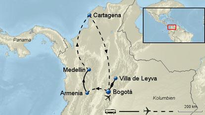 Rundreise Kolumbien mit Flug Kleingruppenreise maximal 12 Personen Februar März Mai 2018