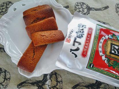 Financiers au Hatchô miso 八丁味噌のフィナンシェ