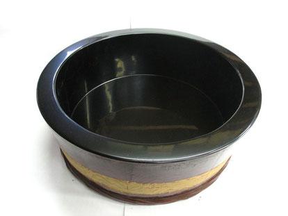 寿司桶 内側を中塗り