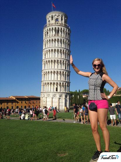 Selfie bij de Scheve Toren van Pisa