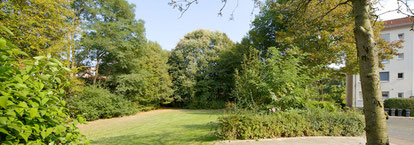 Auf dieser Grünfläche soll der Passivhaus-Neubau entstehen (Quelle Gewoba)