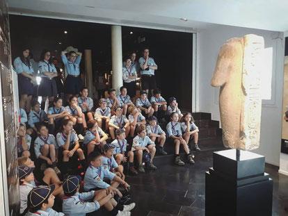 Els llobatons, al museu egipci.