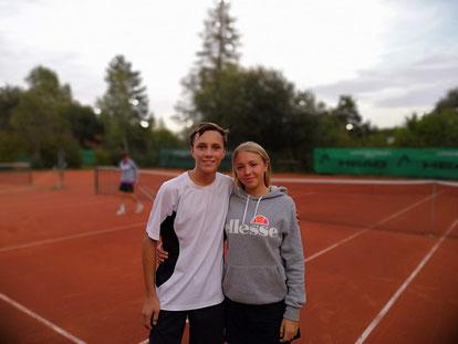 Raphael Lackner und Amina-Moon Amende