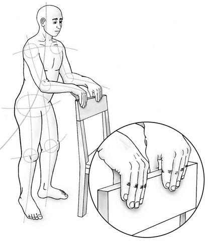 Hands on the back of the chair procedure with Alexander Technique