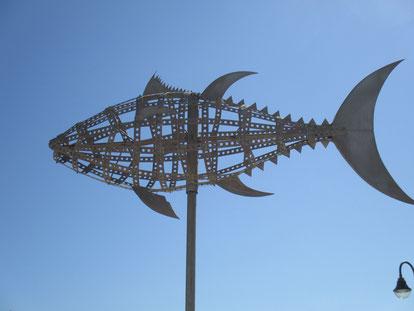 Fischskulptur Stahl