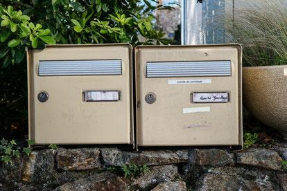 Briefkasten des Partnerschaftsvereins.