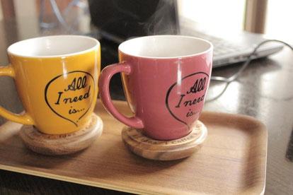 お茶を飲みながら、リラックスして過ごして頂きたいと