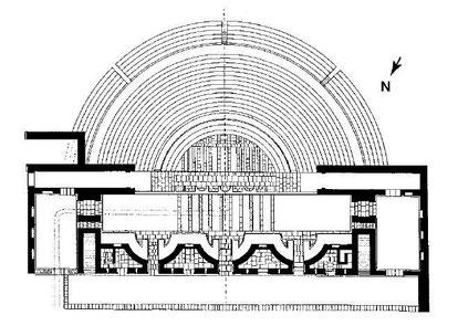 Khemissa (Thubursicu Numidarum) : Plan du théâtre
