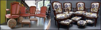 marylinegrac- tapissier d'ameublement-Fauteuil Art-Déco. Rénovation complète