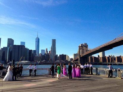 Brautfunger in New York - einheitliche Kleider