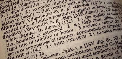 Que signifie la dignité?