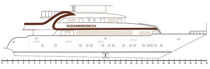 Bauplan der neuen M/Y Ocean Window