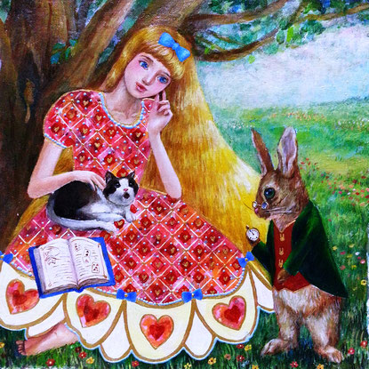「アリス」 油彩・キャンバス S3