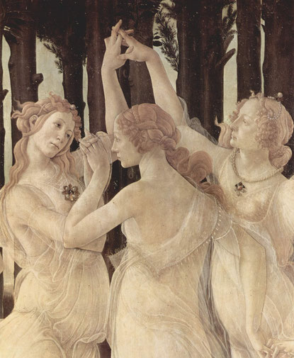 Sandro Botticelli Le Printemps. (détail) 1482.