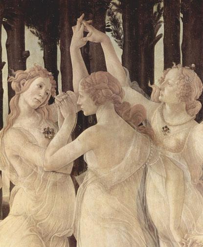 Sandro Botticelli Le Printemps. (détail) 1482.