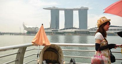 Singapur mit Baby