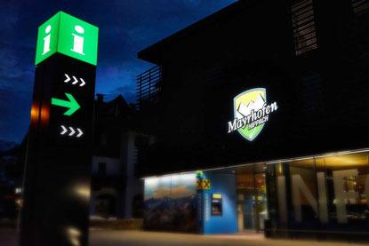 Lichtwerbung, Leuchtschrift, Info, Mayrhofen, Zillertal