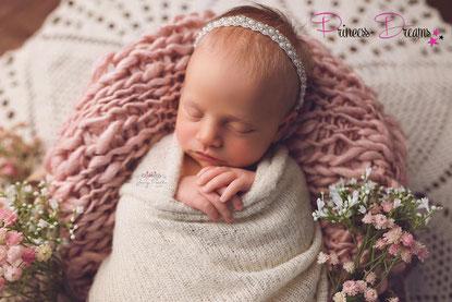 Newborn Neugeborenen Baby Mädchen Hochzeit Haarband