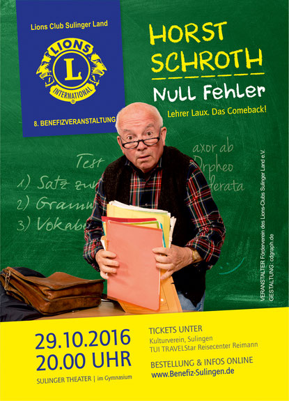 Plakat Lions Club Sulinger Land Benefiz Horst Schroth