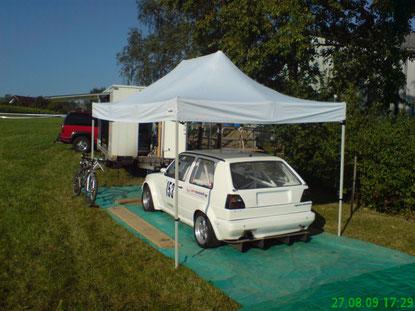 Oberhallau 2009...letztes Rennen mit diesem Golf