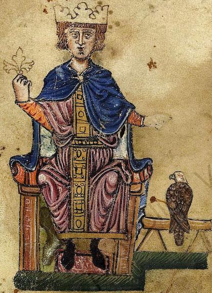"""Aus dem Buch: De arte venandi cum avibus (""""Über die Kunst mit Vögeln zu jagen"""")"""