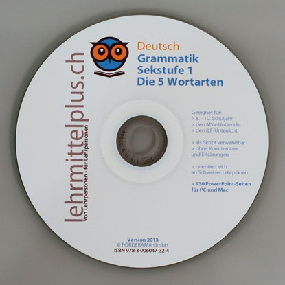 Grammatik Sekstufe 1 - 5 Wortarten