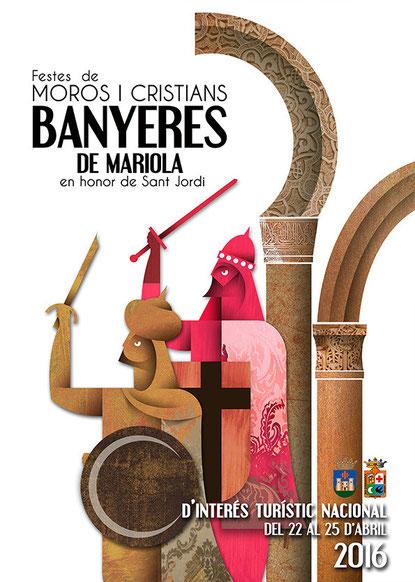 Cartel de Moros y Cristianos en Banyeres de Mariola 2016