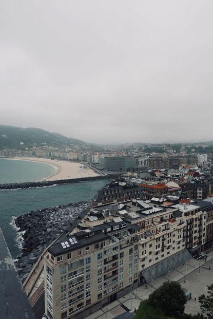 Blick auf Donostia-San Sebastián