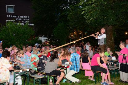 Bild: Die Klobnstoana beim Fischerwirt Dämmershoppen Live Band