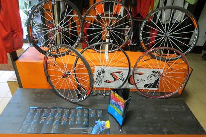 toutes les roues flash carbone ou alu pneus et boyau