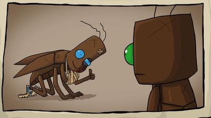 """Bugs, die mal keine Fehler sind: Das putzige Point'n'Click """"Journey of a Roach"""" läuft schön stabil"""