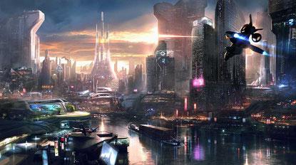 Stählerne Skyline trifft auf klassische Architektur: Hier lebt die High Society von NEO PARIS.