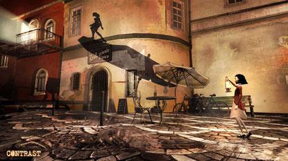 """NextGen-seitig ist """"Contrast"""" vorerst PS4-exklusiv: Hübscher Indie-Download mit technischen Macken, aber cooler Idee."""