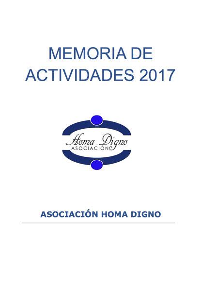 Memoria de Actividades 2017 - Asociación Homa Digno
