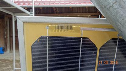 """das sogenannte """"browning"""" ist eine Einfärbung des Einbettungsmaterials (EVA). Die Modulleistung kann sich dadurch reduzieren."""