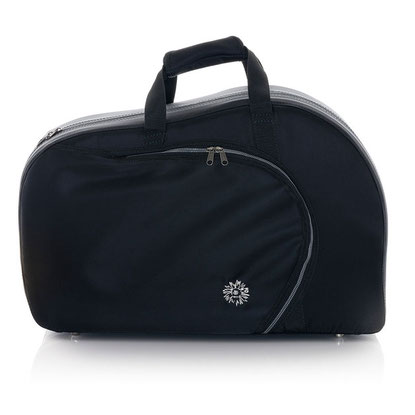 classical black French horn case