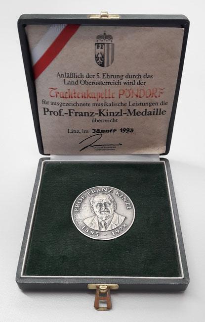 Prof. Franz Kinzl Medaille TMK Pöndorf