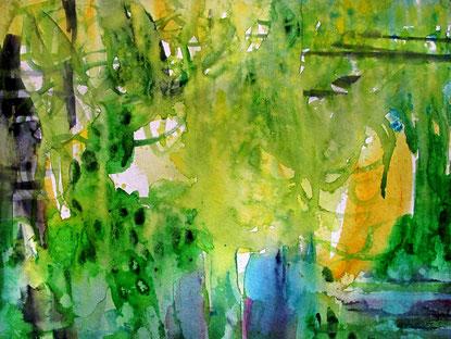 Sylvie Lander-aquarelle-jardin-couleur
