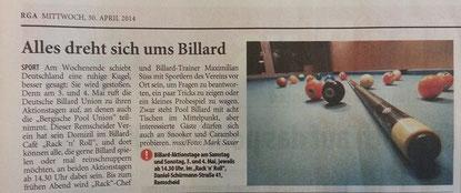 30.04.2014 Remscheider Generalanzeiger