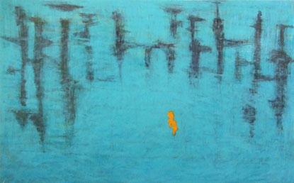 「柵」   キャンバスに油彩    72×116.7㎝(M50号)