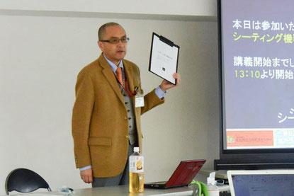 吉川和徳さん(理学療法士)「知っていただく活動」のひとつとして 専門職向けの研修会で講師をつとめる