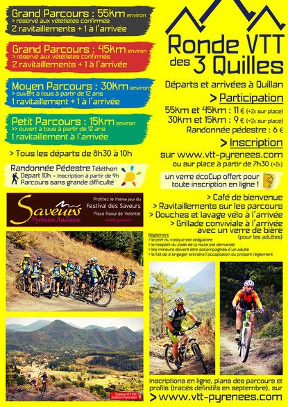 Programme Ronde VTT des 3 Quilles 2017
