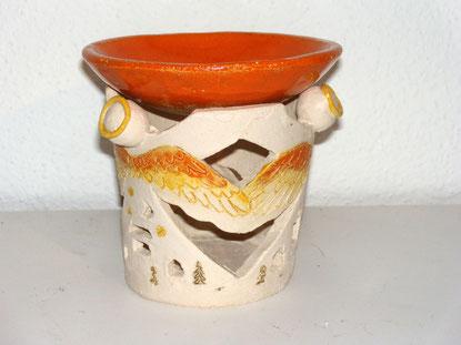 Duftlampe, Keramik, Ton, Engel
