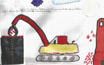 Kunstwerk von von Cedric, Milan und Lennart aus der 4c