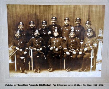 Bid: Wünschendorf Erzgebirge Feuerwehr 1924